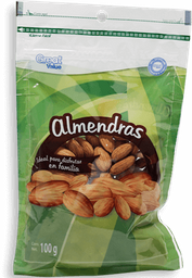 Almendra Great Value Natural Bolsa 100 g