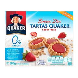 Tartas de Avena Quaker Sabor Fresa Sin Azúcar 305 g