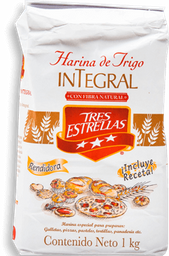 Harina de Trigo Tres Estrellas Integral 1 Kg