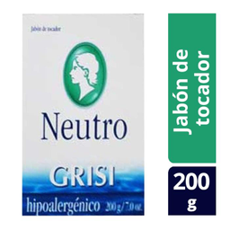 Jabón de Tocador Grisi Neutro Hipoalergénico 200 g