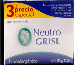 Jabón de Tocador Grisi Neutro Hipoalergénico 150 g x 3