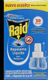 Repelente Raid Líquido Anti Mosquitos Repuesto Caja 1 U