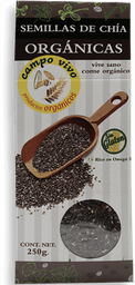Semillas De Chia Campo Vivo Orgánica 250 g