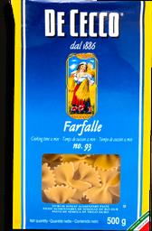 Pasta De Cecco Farfalle 500 g