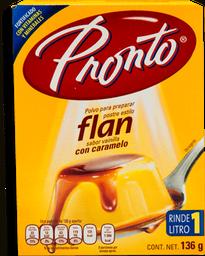 Polvo Para Flan Pronto Sabor Vainilla Con Caramelo 136 g