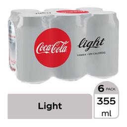 Refresco Coca-Cola Light Lata 355 mL x 6