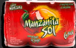 Refresco Manzanita Sol Lata 237 mL x 6
