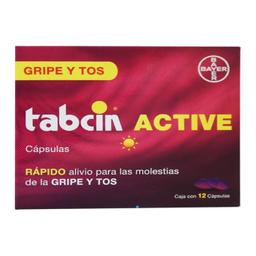 Tabcin Active 12 Cápsulas  (324 mg/2 mg/8 mg)