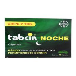 Tabcin Noche 12 Tabletas (250 mg/5 mg/10 mg)