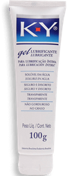 Gel Lubricante K-Y Soluble en Agua Transparente 100 g