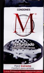 Condones M Force Texturizado 3 U