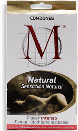 Condones M-force Natural 3 U