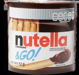 Crema de Avellana Nutella & Go Con Palitos de Pan 52 g