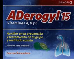 3x2 Aderogyl 15 Vit C 3mL Sol Ing C/5 Amp