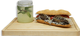 Sándwich Garden Bun + Sopa + Agua