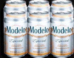 Cerveza Modelo Especial Lata 355 mL x 6