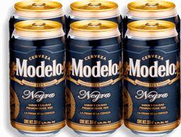 Cerveza Modelo Negra Lata 355 mL x 6