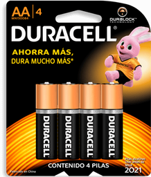 Pilas Duracell AA 4 U