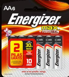 Pilas Energizer Max Aa x 6 Unidades