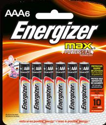 Energizer Max Aaa Con 6