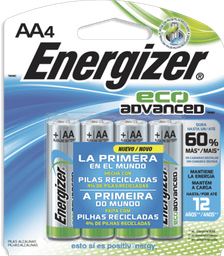 Pilas Energizer Eco Advanced AA 4 U