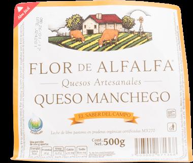 Flor de Alfafa Queso Manchego Organico