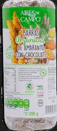 Barras de Aramanto Con Chocolate Aires De Campo 200 g