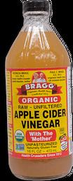Vinagre Bragg Orgánico de Manzana 473 mL