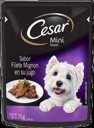 Alimento Para Perro César  Mini Fillets Filete Mignon 75 g