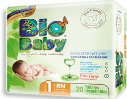 Pañales Bio Baby Talla 1 20 U