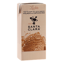 Leche Santa Clara sabor helado de capuccino 200 ml