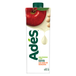 Bebida a base de soya con jugo de manzana