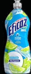 Lavatrastes Eficaz Líquido Limón Energizante Corta Grasa 750 mL