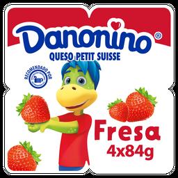 Queso Petit Suisse Danonino Con Fresa 4 X 84G