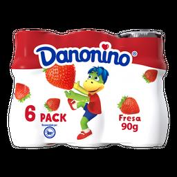 Alimento Lacteo Danonino Bebible Fresa 6 X 90G