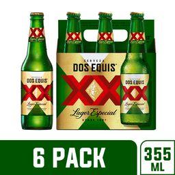 Cerveza Dos Equis Lager Botella 355 mL x 6