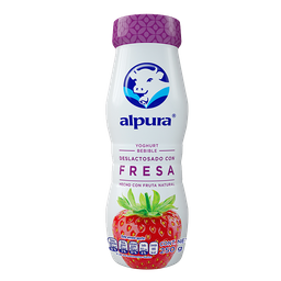 Yogurt Bebible Alpura Deslactosado Fresa 250 g