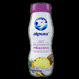 Yoghurt Bebible Alpura Piña y Coco Deslactosado 250 g