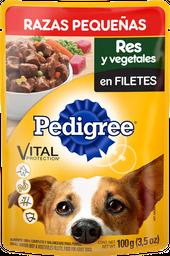 Alimento Para Perro Pedigree Res y Vegetales Razas Peq 100 g