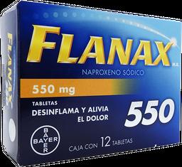 Flanax 12 Tabletas (550 mg)