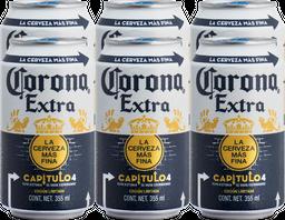 Cerveza Corona Extra 355 mL x 6