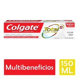 Pasta Dental Colgate Total 12 Clean Mint 150 mL