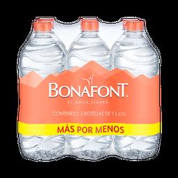 Agua Bonafont 1 L x 6