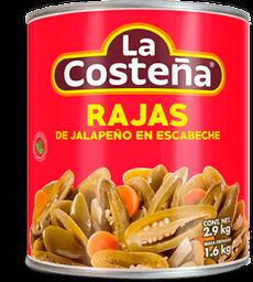 Chiles Jalapeños La Costeña en Rajas 2.9 Kg