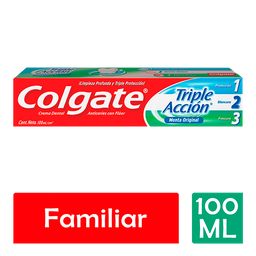Colgate Pasta Dental Triple Acción Menta Original 100 Ml