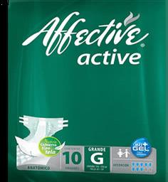 Pañal Para Adulto Affective Active Talla Grande Unisex 10 U