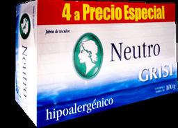 Jabón de Tocador Grisi Neutro Hipoalergénico 100 g X 4