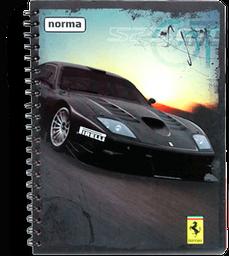 Cuaderno Profesional Ferrari Cuadro Chico 100 H 1 U