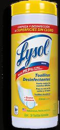 Toallas Húmedas Lysol Desinfectantes 35 U