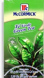 Té Verde Mccormick 25 U